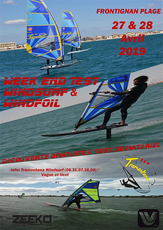 Test et découverte windsurf et windfoil